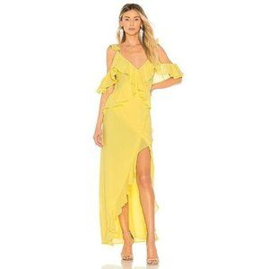 Michael Costello x REVOLVE Collette Gown in Yellow